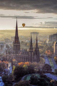 Patrick's Cathedral in Melbourne, Australia This is Melbourne, Australia. Australia's number one on my bucket list. Crossing my fingersThis is Melbourne, Australia. Australia's number one on my bucket list. Crossing my fingers Places Around The World, Oh The Places You'll Go, Places To Travel, Places To Visit, Travel Stuff, Wonderful Places, Beautiful Places, Amazing Places, Amazing Things