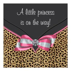 Leopard+Print+Baby+Shower+Invitations | leopard baby shower invitation this adorable pink leopard baby shower ...