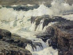"Frederick Judd Waugh (1861 - 1940) was an American artist, primarily known as a marine artist.  ""Seascape"""