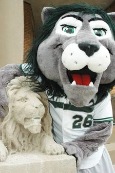 mascot and the statue that inspired it