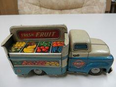 Vintage Tin Japan Friction Fresh Fruit Truck | eBay
