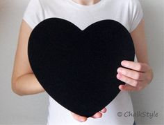 2 CHALKBOARD Large HEARTS for Rustic Wedding Decor or Photo Booth Prop, Engagement Pictures Props Save the Date Chalk Board Signs on Etsy, $16.99