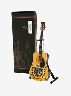 The perfect gift for any Sublime fan // Sublime Large Sun Logo Natural Finish Acoustic Mini Guitar Model