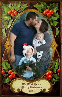 3D look Photo Frame to use for Christmas cards from CD 6 Creating with Vintage Christmas. It's a PNG file so you can digitally pop a photo