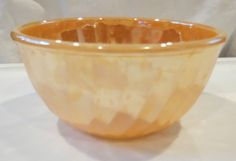 Vintage FIRE-KING Glass Peach Luster Swirl Mixing Bowl Oven Ware