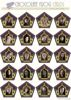 Chocolate frog cards - Harry Potter