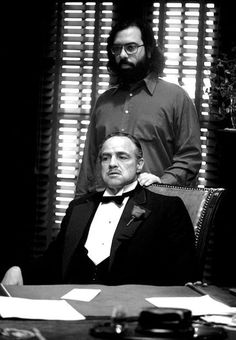 The Godfather - Marlon Brando and Francis Ford Coppola - 29 Awesome Behind-The-Scenes Photos From The Sets Of Classic Movies Marlon Brando, Beau Film, Robert Duvall, Andy Garcia, The Godfather, Great Films, Good Movies, Famous Movies, Robert De Niro