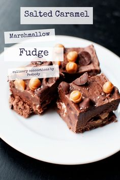 Salted Caramel Marshmallow Fudge