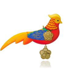 12 Days of Christmas Five Golden Rings Pheasant Ornament