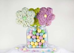 Chewy Cereal Florals  The Rice Krispie Bouquet Transforms the Classic Treat into a Bundle of Blooms