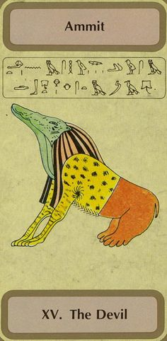 XV. The Devil (Ammit) - Tarot of Transition by Unknown