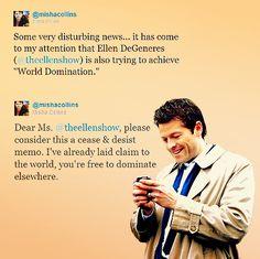 I love Misha Collins.