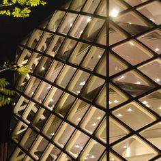 Diamond shapes Prada building
