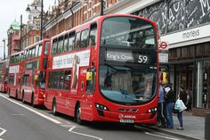 59 has a small mixture of diesel-electric hybrid buses along with conventional diesel buses whilst route 91 has a full allocation of diesel buses. Route 91, Bus Route, London Bus, Old London, Routemaster, Buses And Trains, Double Deck, Bus Coach, London Transport