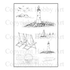 Countryside & Scene-it's :: Rubber Stamps :: Products :: Hobby Art Ltd Lighthouse, Stitches, Stamps, Scene, Scrapbook, Bell Rock Lighthouse, Seals, Light House, Stitching