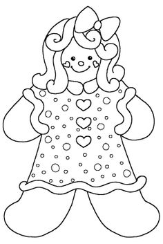 Gingerbread Girl Coloring Pages | Coloring Pages ...