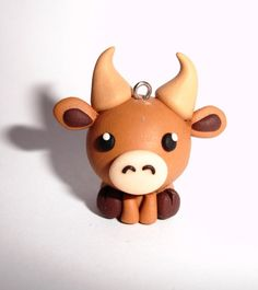 I'm going to make charms for all the zodiac animals and this little cute bull would be a perfect Taurus :D
