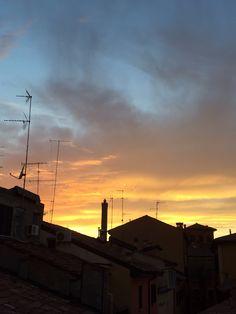 Tetti al tramonto