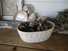 Vintage WHITE MATTE POTTERY Planter by DaphsSmallWorld on Etsy, $12.00