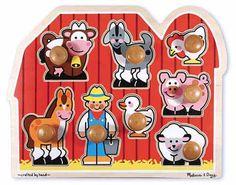 Melissa & Doug Farm Jumbo Knob Puzzle