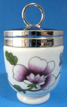 1940s Standard Egg Coddler Royal Worcester Egg Coddler Floral Fireproof Cooking Porcelain Egg Cup