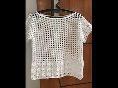 Crochet Blouse, Crochet Poncho, Chrochet, Crochet Bikini, Crochet Videos, Crochet Clothes, Free Pattern, Crochet Patterns, Crop Tops