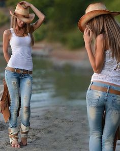 country style. ♥ For More Pins like this, Follow us at http://www.pinterest.com/weluvhotgirls ♥