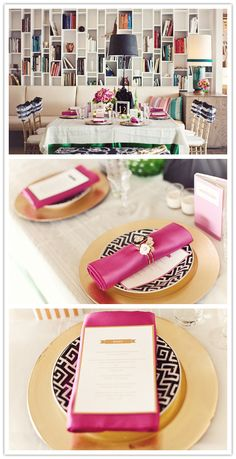 I don't always like black, white, and hot pink together, but it is so cute here!