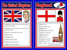 The United Kingdom - Fact Files Cards