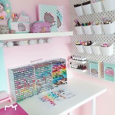 organization room decor / organization room - organization room ideas - organization room bedrooms - organization room diy - organization room by room - organization room decor - organization room ideas diy Craft Room Organisation, Craft Room Storage, Storage Ideas, Ikea Organization, Craft Rooms, Stationary Organization, Girls Bedroom Organization, Study Room Decor, Cute Room Decor