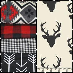 Items similar to Baby Boy Crib Bedding - Buck Deer, Black Arrows, Lodge Red Black Plaid, Ivory Black Check, and Aztec Crib Bedding Ensemble on Etsy Plaid Nursery, Rag Quilt, Boy Quilts, Quilt Blocks, Target Baby, Red And Black Plaid, Changing Pad, Baby Boy Nurseries, Baby Boy Shower