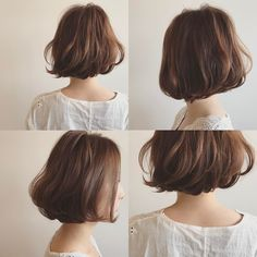 Bob Hairstyles – The Great Look Through The Years – Stylish Hairstyles Short Wavey Hair, Short Hair Cuts, Medium Hair Styles, Curly Hair Styles, Japanese Haircut, Shot Hair Styles, Hair Arrange, French Hair, Hair Images