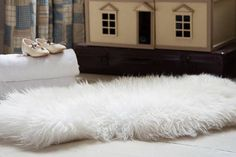 sheepskin rug and throw by strawberry hills | notonthehighstreet.com