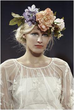 Whimsical Floral Wedding Crown