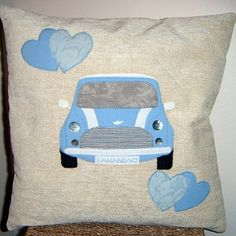 Personalised Cushion - Mini Cooper