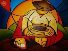Quadro reuman Filipino Art, Arte Country, Beginner Painting, Arte Pop, Modern Art, Contemporary Art, Cool Paintings, Painting Patterns, Artist Painting