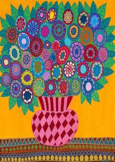 Kerri Ambrosino Art NEEDLEPOINT Mexican Folk Art by kerriambrosino, $22.99
