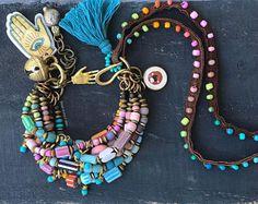 Boho hippie pulsera pulsera de cadena multi étnica gitana