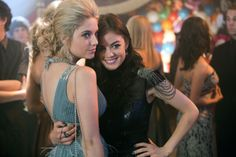 How cute were Hanna and Aria at homecoming? We loved their dresses! #PLLMemories