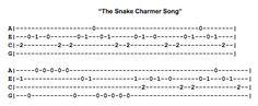 Snake Charmer Song Ukulele Fingerpicking Pattern