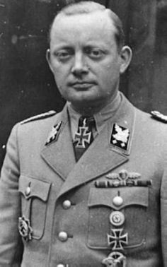 Friedrich Alpers was the Minister for the Free State of Brunswick and an Obergruppenführer-SS. Alpers was known for his violent tendencies and indeed he was disciplined by the SS themselves because of excesses in Brunswick. He was responsible for many war crimes during the war. Alpers committed suicide in Sept 1944 while a POW of the Americans.