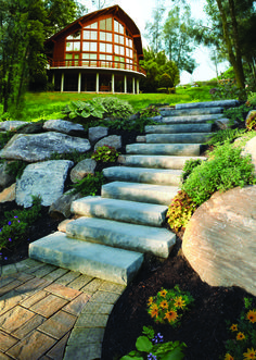 Durable Cast Stone Stairs from Cambridge offer both beauty and convenience in addition to being a far more affordable substitute for natural bluestone, granite and other natural stone materials.
