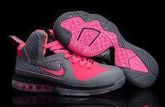 Nike Lebron 9 Womens Wolf Grey Pink [Womens Nike LeBron-6393] - $66.99 : lebronxlows.net sale|LeBron X LOW|LeBron 9 Low|Lebron 8 Low and Hyperdunk low