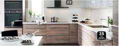 Cuisine IKEA Le + : association bois et blanc laqué
