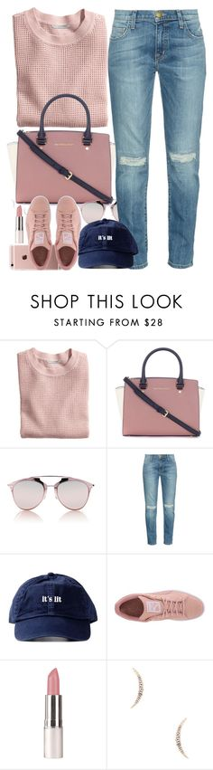 """Guys Should I Make A Group???"" by oh-aurora ❤ liked on Polyvore featuring H&M, Michael Kors, Christian Dior, Current/Elliott, Puma and Elizabeth and James"