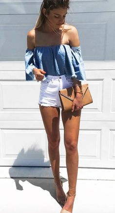 denim blue + white || @kyliieee