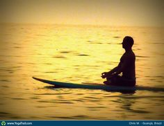 """#Yoga Poses Around the World: """"Peaceful Sunset on the water"""""""