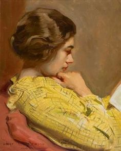 ✉ Biblio Beauties ✉ paintings of women reading letters & books - Sidney Edward Dickinson
