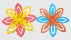 How to Make Beautiful Paper Snowflake Fl. Diy Christmas Snowflakes, 3d Paper Snowflakes, Paper Craft Making, Snow Flakes Diy, Crafts For Kids, Paper Crafts, Simple, Flowers, Beautiful