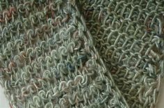 Ravelry: Chain Mail Scarf pattern by Sharon Silverman
